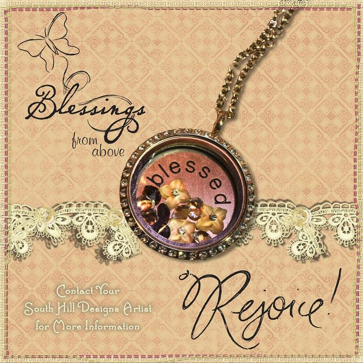 South Hill Design Locket - Blessed