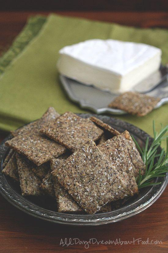My favorite homemade cracker recipe. Grain-Free Cracker Recipe with Sunflower and Chia Seeds. Nut free too!