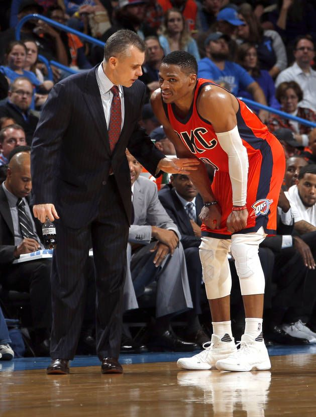 "Thunder coach Billy Donovan told The Vertical it's going to be ""totally different"" this season compared to two years ago when Russell Westbrook was needed to carry the Thunder through a wave of injuries. [Photo by Sarah Phipps, The Oklahoman archives]"