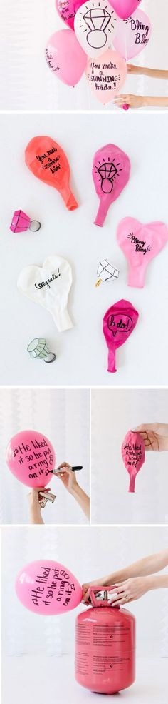 Sweet Balloon Wishes   DIY Bridal Shower Party Ideas on a Budget