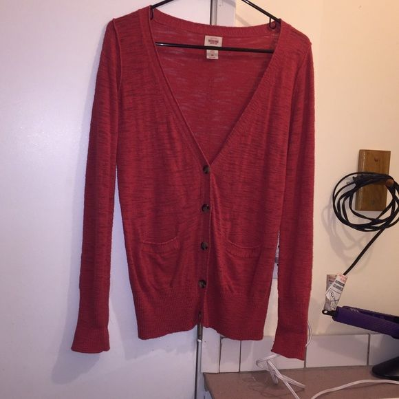Coral cardigan Preety cartigan from target Mossimo Supply Co. Jackets & Coats
