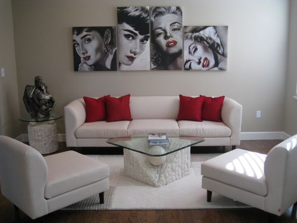 Love This Idea With The Pics And Love The Modern Feel Of This Room But Yet Marilyn Monroe