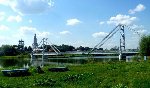 Подвесной мост на озере Бельском, Россия, Подмосковье, юго-восток: фото, описание адрес
