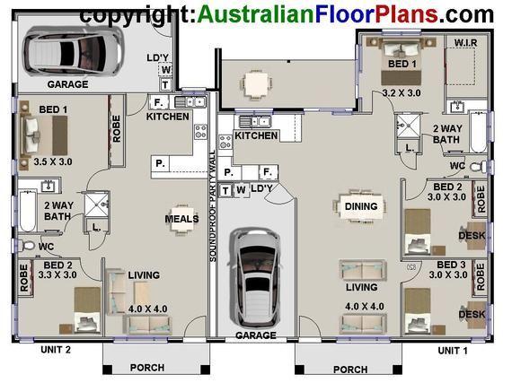 Best Seller Duplex Townhouse Book Of Designs Australian Etsy In 2021 Duplex Floor Plans Duplex House Plans House Floor Plans
