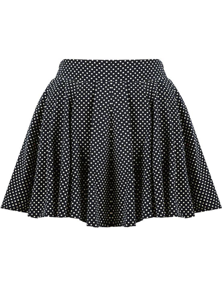 Falda plisada topos-negro 14.88