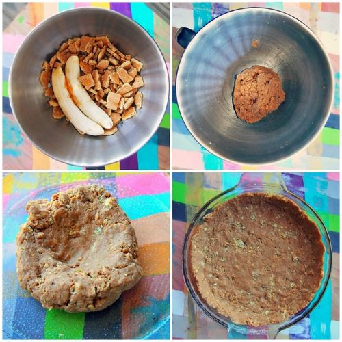Banana Graham Cracker Crust-Healthy Pies!