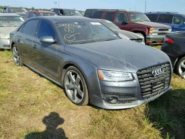 Salvage 2017 Audi A8 L Quattro Sedan For Sale | Flood Title