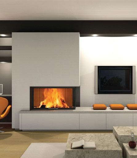 inbouwhaarden en tv wandmeubel google zoeken - Design Fireplace Wall