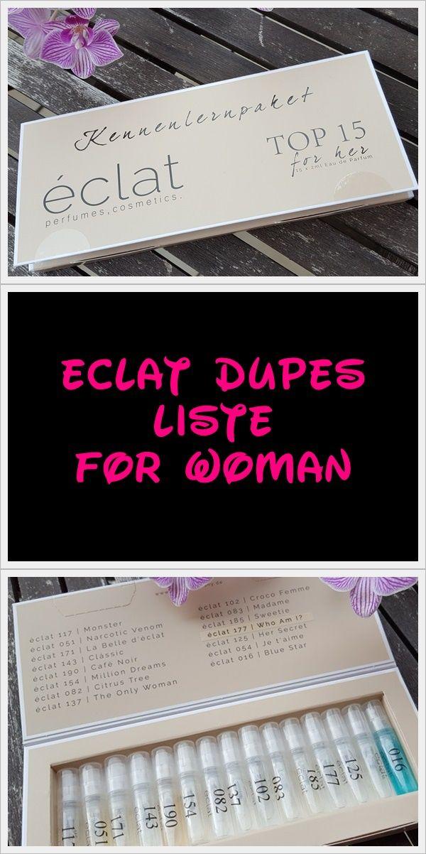éclat Dupes Liste for Woman  http://honey-loveandlike.de/eclat-dupes-parfumzwillinge-liste-2016/