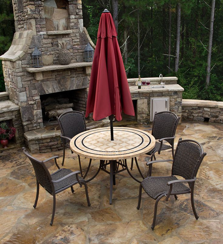 5 Piece Outdoor Dining Set | Tortuga Outdoor Patio Furniture  #TortugaOutdoor