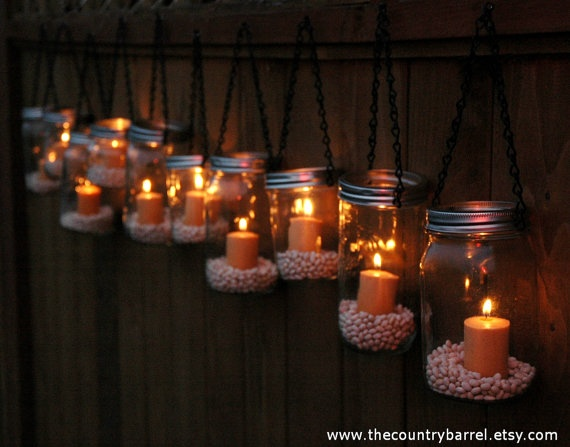 Best hanging tea lights ideas only on pinterest