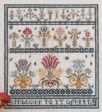 Welcome to My Garden (cross stitch) $12.99 at Nordic Needle  Just love Rosewood Manor