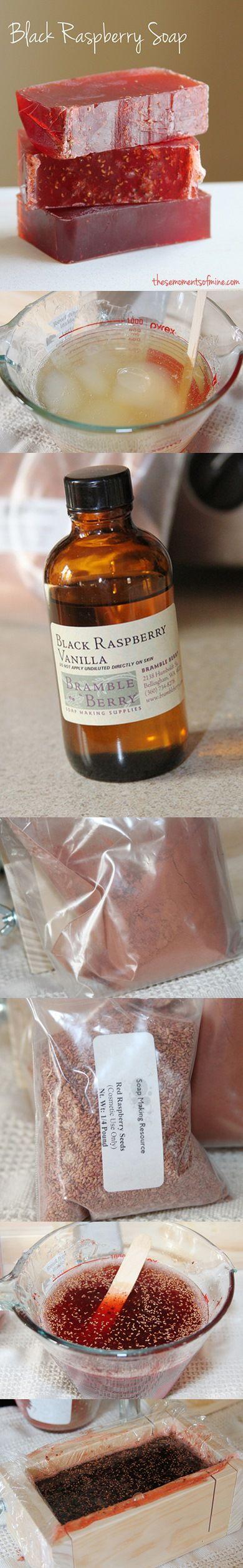 DIY Black Raspberry Soap
