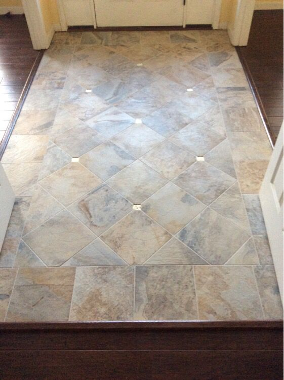 Like many customers they already have a jpattern in their for Foyer tile patterns