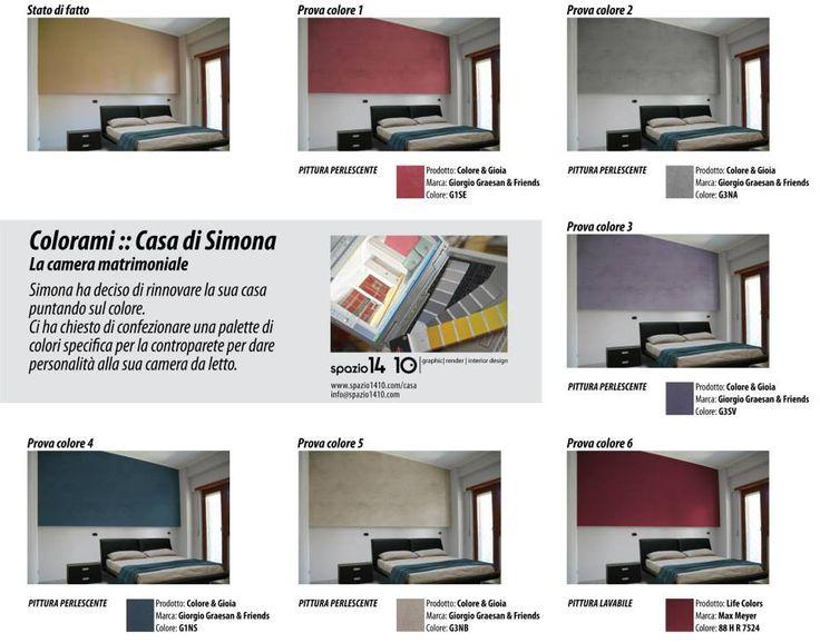 Casa di Simona :: Camera matrimoniale ---Progetto cromatico con le pitture decorative di Giorgio Graesan & Friends