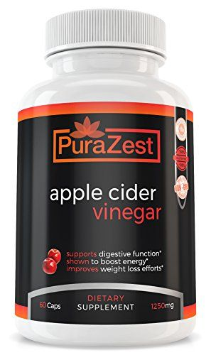 PuraZest Apple Cider Vinegar 1250mg Supplement Tablets (60 Capsules) Detoxifying Support for Healthy Weight Loss, Management | Detox Digestive Tract | Metabolism Booster #PuraZest #Apple #Cider #Vinegar #Supplement #Tablets #Capsules) #Detoxifying #Support #Healthy #Weight #Loss, #Management #Detox #Digestive #Tract #Metabolism #Booster