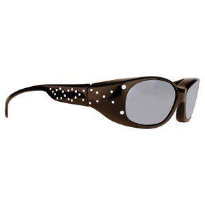 Solar Shield Fits Over Sunglasses, Polarized Fashion, Gloss Black/Gray Diamond