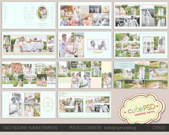 18 best album collage template images on pinterest collage instant download 12x12 wedding album template happy by cutepsd 2000 pronofoot35fo Gallery