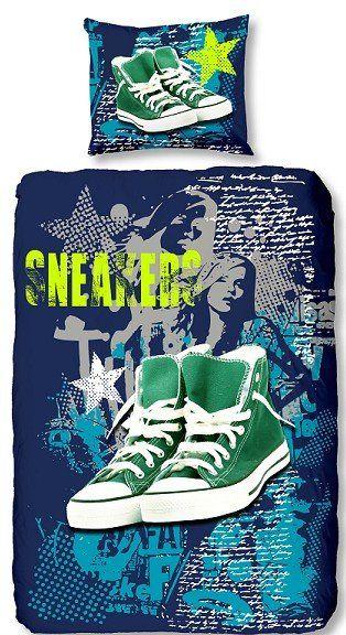 Kids-Style Dekbedovertrek 3933 Sneakers blue