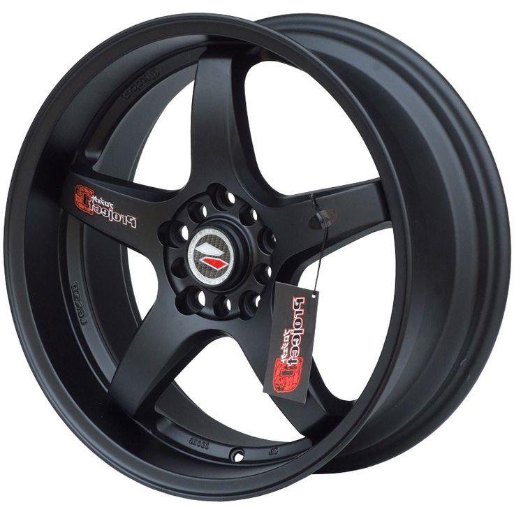 LENSO D1R MATT BLACK alloy wheels with stunning look for 4 studd wheels in MATT BLACK finish with 15 inch rim size