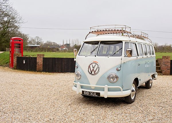 Dylan is our 1962 RHD splitscreen in the a lovely baby blue. Dylan has been lovingly restored with our usual high standards complete with a stylish new interior which includes Fridge, Oven, 2-ring Gas burner and lots more.He has acomfortable double rock and roll bed, so will comfortably sleep 2 adults. To get the most out of whatDylan has to offer you must book a mains hook-up at your campsite pitch. Award Winning Classic VW Campervan Hire from New Forest Safari Campers - The best way to…