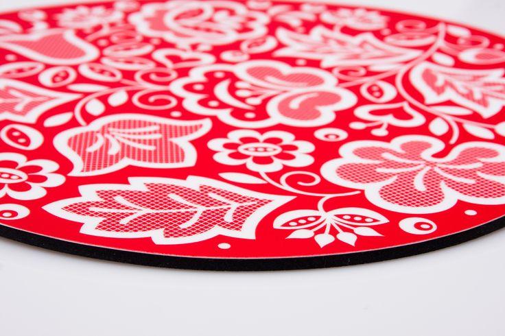 Podkładka pod mysz FOLK - kujawska czerwona