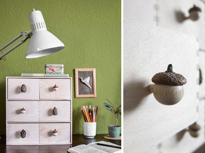 DIY Anleitung: Möbelknäufe aus Naturmaterialien herstellen // diy tutorial: furniture knobs made out of natural materials vis DaWanda.com
