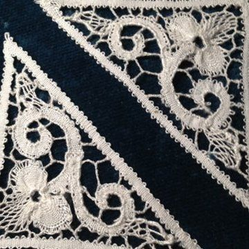 Bobbin lace, also known as pillow lace, is a method of making lace by weaving threads held on bobbins and pinning them to a pattern pinned to a pillow.