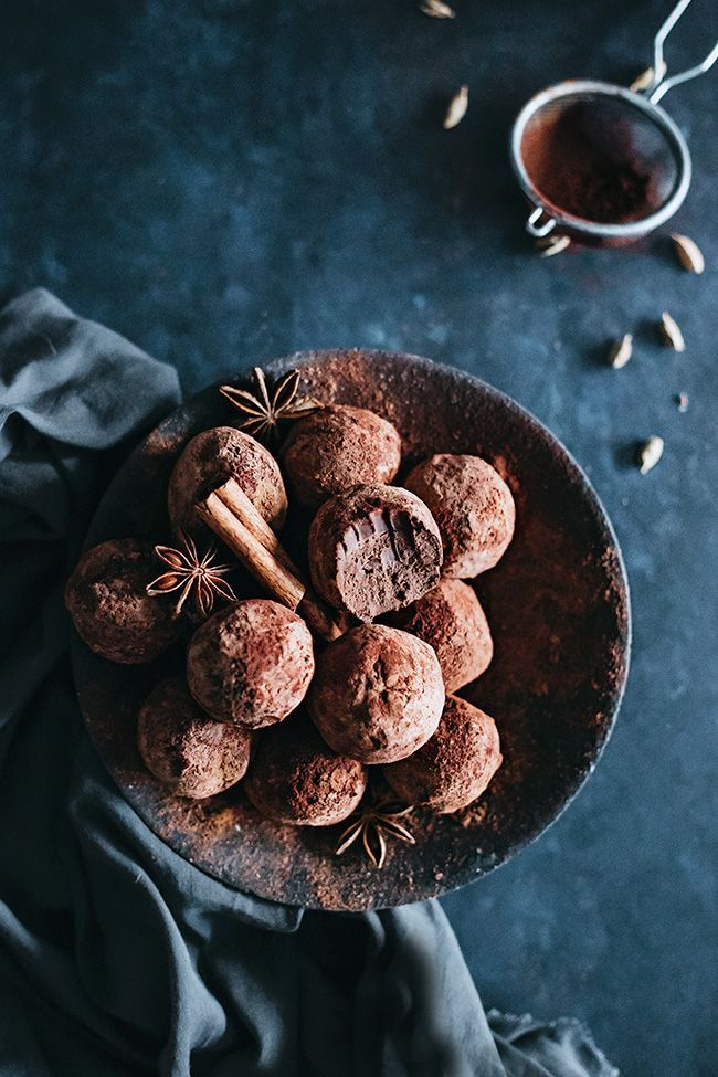 Chai infused Fine Chocolate Truffles with Indian Spices | http://TheAwesomeGreen.com