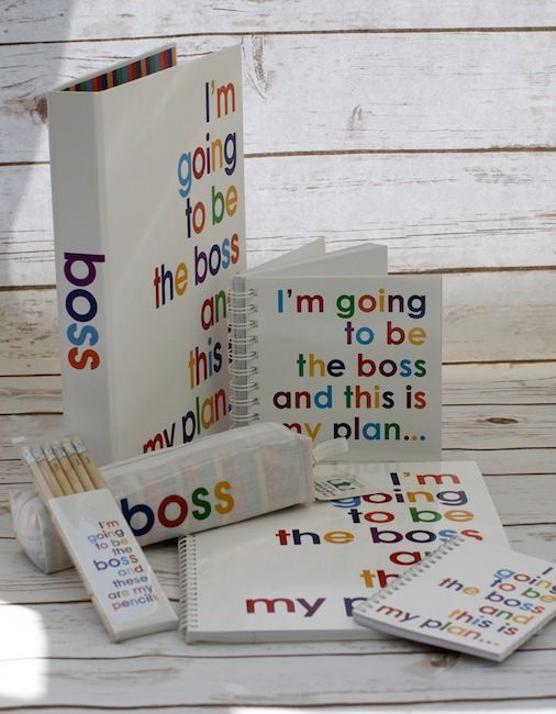 I'm going to be the Boss stationery range. For those people in your life who you know are just never going to be happy taking orders from anyone!