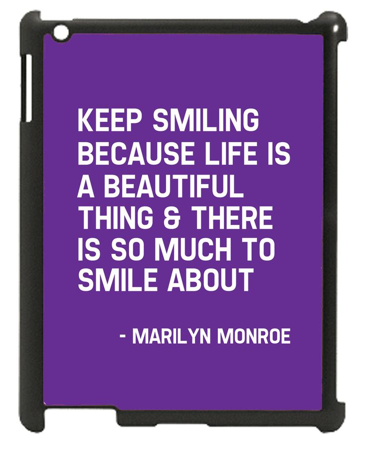 Wordon.com.au - Keep Smiling Marilyn Monroe Quote iPad Case, $24.95 (http://www.wordon.com.au/products/keep-smiling-marilyn-monroe-quote-ipad-case.html)