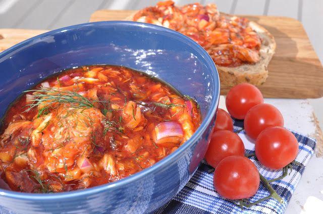 Anne Karins Mat og Vin: Hjemmelaget makrell i tomat