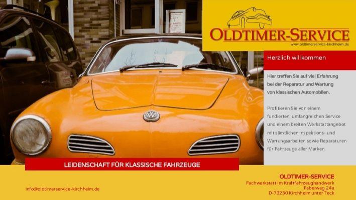 Reparatur und Wartung von klassischen Automobilen. Fundierter, umfangreicher Service und ein breites Werkstattangebot mit sämtlichen