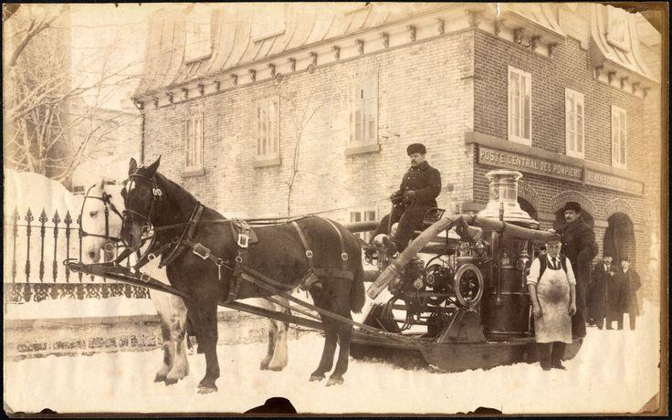 Station de feu no.1 et pompe à incendie, 1895