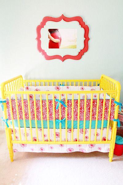 Frame via The Organic Bloom- gorgeous combo with fun crib bedding!