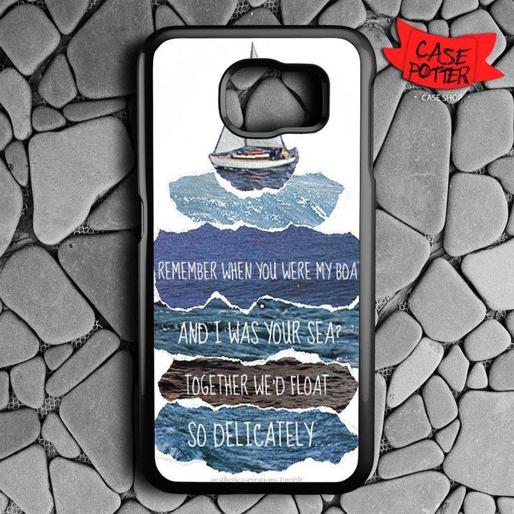Beach Quotes Samsung Galaxy S7 Black Case