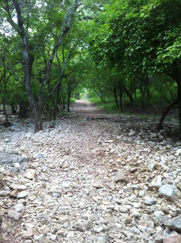 Panther Canyon,  New Braunfels , TX used to taking sisters on hikes there.