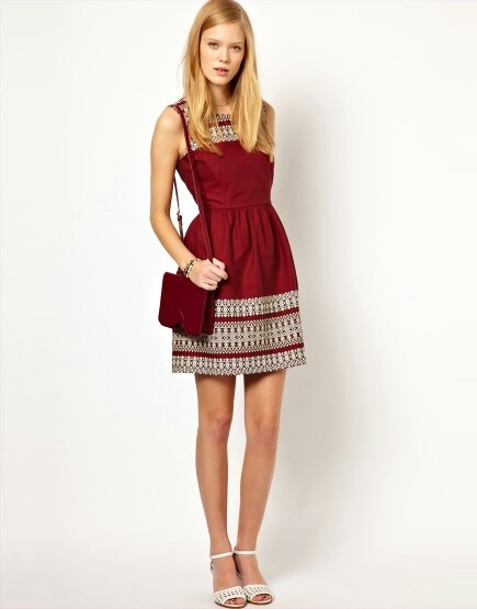 Casual maroon festival dress | Clothes and shoes | Pinterest ...
