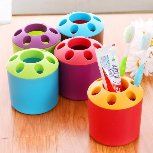 >> Click to Buy << Creative Porous Couple Toothpaste Toothbrush Holder Multifunction Desktop Pen Holder Candy Color Bathroom Sets 2 Pieces/Set #Affiliate