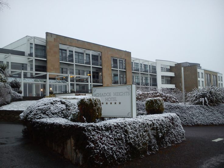 The facade of Aghadoe Heights Killarney looks even better with a sprinkling of snow #loveaghadoeheights