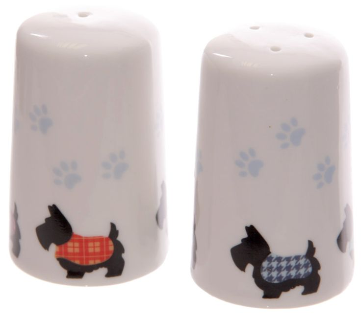 Cute Salt & Pepper Set - Scottish Terrier/Scottie Dog design