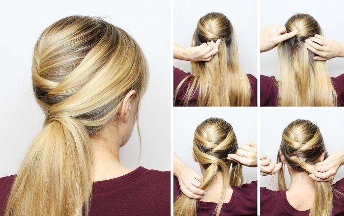 Comment Faire Une Coiffure Facile Cheveux Mi Longs Archzine Fr Coiffure Facile Cheveux Mi Long Coiffure Simple Cheveux Longs