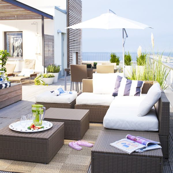 246 best outdoor living images on pinterest for Ikea outdoor sofa