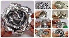 Un'idea per riciclare i pirottini di alluminio: spiegazioni passo passo per fare delle rose.