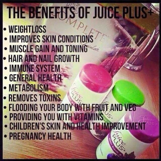 Health benefits of Juice Plus  http://jmcallister1.juiceplus.com/