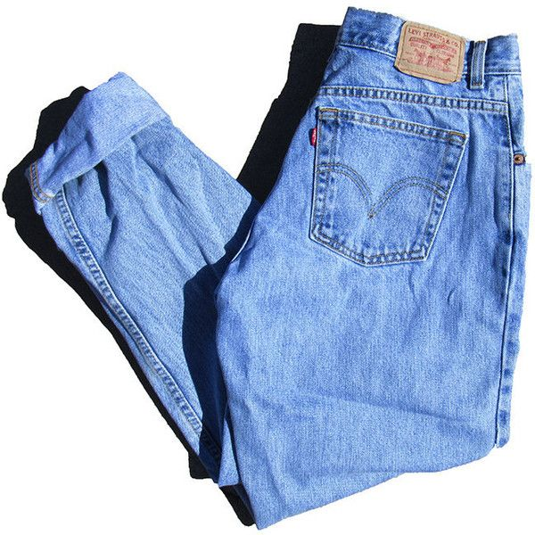 90s Light Wash High Waisted Levi's 550 Jeans Minimalist Denim 31 x 32... (2,705 PHP) ❤ liked on Polyvore featuring jeans, distressed denim jeans, high waisted jeans, blue jeans, destroyed jeans and ripped blue jeans