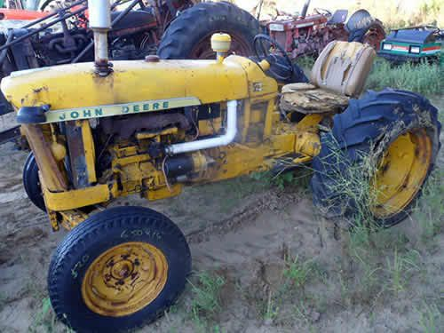 John Deere 1010 tractor salvaged for used parts. This unit is available at All States Ag Parts in Downing, WI. Call 877-530-1010 parts. Unit ID#: EQ-24836. The photo depicts the equipment in the condition it arrived at our salvage yard. Parts shown may or may not still be available. http://www.TractorPartsASAP.com