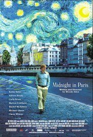While on a trip to Paris with his fiancée's family, a nostalgic screenwriter finds himself mysteriously going back to the 1920s everyday at midnight.