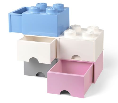 Stackable giant LEGO storage brick drawers to create LEGO towers just like the original...