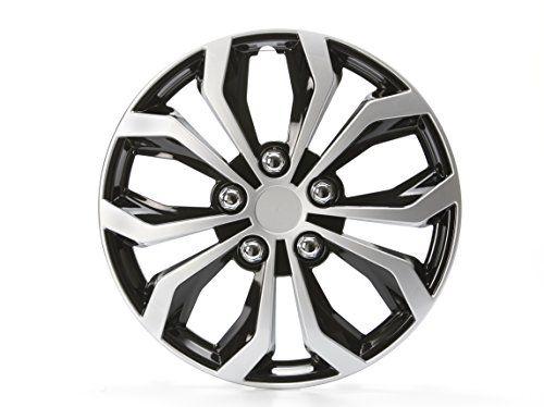 Unitec 75569 Daytona 16-inch Wheel Trims-black / Silver Number 4